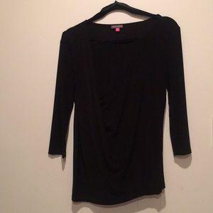 Drapes 3/4 sleeve blouse